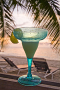 Roatans West Bay, Tropical Drink Print by Richard Nowitz