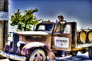 Jose Cuervo Posters - Rob Dietrich and his restored Classic truck Poster by Trish McGinity