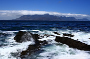 African Cloth Framed Prints - Robben Island View Framed Print by Aidan Moran