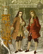 Boyle Posters - Robert Boyle And Denis Papin Poster by Science Source