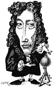 Caricature Prints - Robert Boyle, Caricature Print by Gary Brown