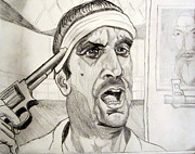 Award Drawings Prints - Robert DeNiro Deer Hunter Russian Roulette Print by Donald William