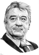 (murphy Elliott) Drawings - Robert DeNiro by Murphy Elliott