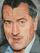 Portraits By Timothe Framed Prints - Robert DeNiro Framed Print by Timothe Winstead