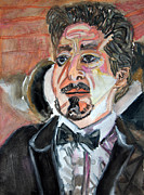 Iron Man Painting Originals - Robert Downey in Tux - V04 by John Kelting
