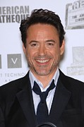 Beverly Hilton Hotel Metal Prints - Robert Downey Jr. In Attendance Metal Print by Everett