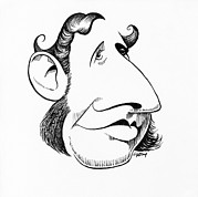 Caricature Prints - Robert Fitzroy, Caricature Print by Gary Brown