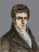 Fulton Framed Prints - Robert Fulton (1765-1815) Framed Print by Sheila Terry