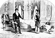 French Man-of-war Art - Robert Fulton And Napoleon I, 1804 by Photo Researchers