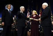 George W. Bush Prints - Robert Gates Is Sworn In As The 22nd Print by Everett