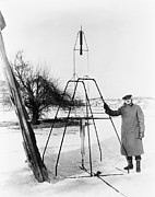 Firsts Photo Posters - Robert H. Goddard 1882-1945, Standing Poster by Everett