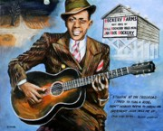 """delta Blues"" Framed Prints - Robert Johnson Mississippi Delta Blues Framed Print by Karl Wagner"