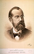 Laureates Prints - Robert Koch 1843-1910, German Print by Everett