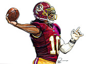 Heisman Framed Prints - Robert Lee Griffin III Framed Print by Dave Olsen