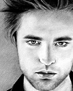 Twilight Drawings Prints - Robert Print by Lena Day