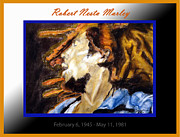 Roots Pastels Posters - Robert Nesta Marley Memorial Poster by Alyssa  Hinton