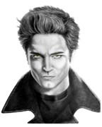 Famous People Drawings - Robert Pattinson - Twilights Edward by Murphy Elliott