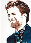 Popular People Paintings - Robert Pattinson 58 by Audrey Pollitt
