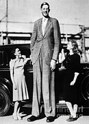 Pershing Photos - Robert Pershing Wadlow, Tallest Man by Science Source