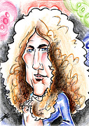Pants Drawings Posters - Robert PLant Poster by Big Mike Roate