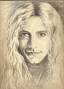 Led Zeppelin Drawings - Robert Plant by Carleigh Duncan