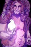 Led Zeppelin Paintings - Robert Plant by Hannah Curran