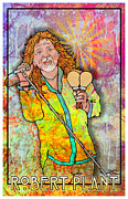 Rock N Roll Digital Art - Robert Plant by John Goldacker