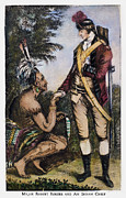 French And Indian War Photo Framed Prints - Robert Rogers (1731-1795) Framed Print by Granger