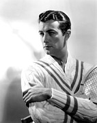 V-neck Sweater Posters - Robert Taylor, Photo Dated 1935. Photo Poster by Everett