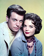 Husband Photo Posters - Robert Wagner, Natalie Wood In The 1950s Poster by Everett