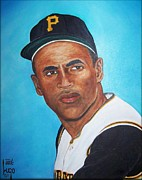 Puerto Rico Paintings - Roberto Clemente by Jose Lugo