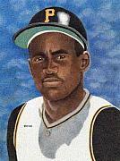 Pittsburgh Pirates Drawings - Roberto Clemente by Rob Payne