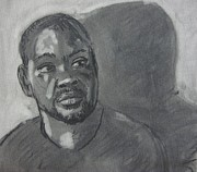 African-american Drawings - Robin 20 minute portrait by Fremont Thompson