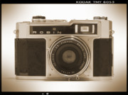 White  Digital Art Posters - Robin 35mm Rangefinder Camera Poster by Mike McGlothlen