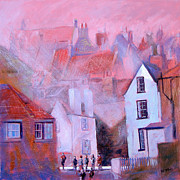 Buildings Paintings - Robin Hoods Bay Dock by Neil McBride