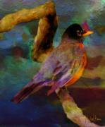 Cheekwood Prints - Robin On A Limb Print by Michael Brown