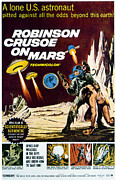 1960s Poster Art Posters - Robinson Crusoe On Mars, 1964 Poster by Everett