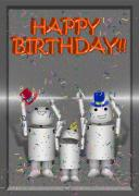 Robotics Mixed Media - Robo-x9 Birthday Wishes by Gravityx Designs