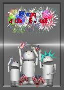 Robo-x9 Celebrates Freedom Print by Gravityx Designs