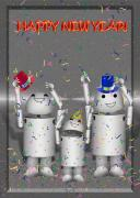 Robo-x9 Mixed Media - Robo-x9 New Years Celebration by Gravityx Designs