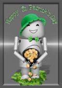 Robo-x9 Mixed Media - Robo-x9 With a Pot of Gold by Gravityx Designs