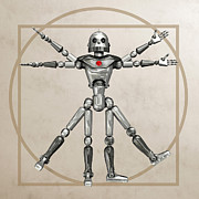 Man Machine Prints - Robot, Artwork Print by Friedrich Saurer