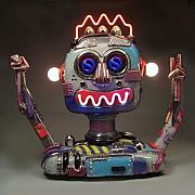 Ceramic Mixed Media - Robot by Jerry  Berta