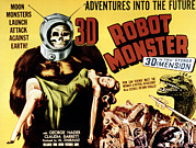 Monster Movies Prints - Robot Monster, 1953 Print by Everett