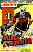 1950s Movies Prints - Robot Monster, Bottom, From Left George Print by Everett