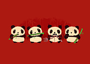 Cartoon Digital Art - Robot Panda by Budi Satria Kwan