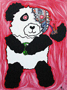 Terrifying Framed Prints - Robot Panda Framed Print by Jera Sky