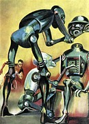 Man Machine Prints - Robot Science-fiction Artwork Print by Cci Archives