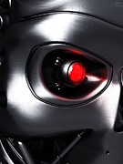 Red Eye Metal Prints - Robotic Eye, Artwork Metal Print by Equinox Graphics