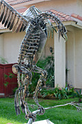 Birds Sculpture Prints - Robotic Raptor Print by Greg Coffelt